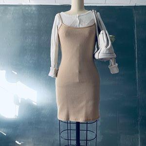 Beige bodycon dress